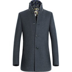 Stand Collar Woolen Blend Long Style Coat found on MODAPINS from Zilingo AU for USD $66.16