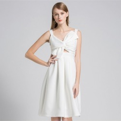 White V Neck Women's Sexy Party Formal Dress found on MODAPINS from Zilingo AU for USD $68.02