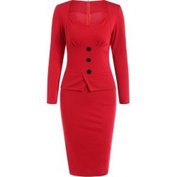 Long Sleeves Sheath Work Dress found on MODAPINS from Zilingo AU for USD $29.76