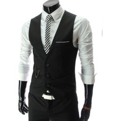 Fashion Mens Casual Solid Waistcoat Vest Soft Tops Formal For Suits found on MODAPINS from Zilingo AU for USD $26.88