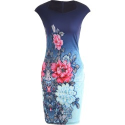 Floral Printed Pencil Dress found on MODAPINS from Zilingo AU for USD $30.20