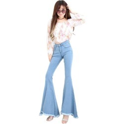 Temperament Elegant Slim Large Size Mid-rise Flared Jeans found on MODAPINS from Zilingo AU for USD $32.28