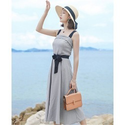 Women's Grey Sleeveless Off Shoulder Dresses Straps Mini Dress found on MODAPINS from Zilingo AU for USD $28.00