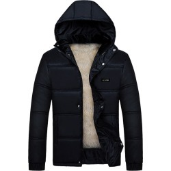 Men's Down Coat Hooded Solid Color Cold-proof Outdoor Coat found on MODAPINS from Zilingo AU for USD $68.98