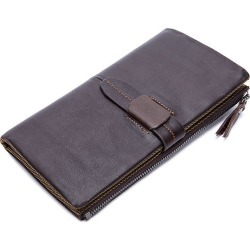 Men's Wallet Genuine Leather Fashion Long Wallet found on MODAPINS from Zilingo AU for USD $32.65