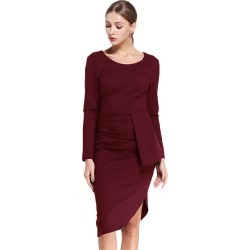 Asymmetrical Design Split Long Sleeve Formal Dress found on MODAPINS from Zilingo AU for USD $60.39