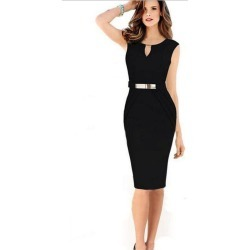 Slim Style Pencil Skirt Fashion Work Dress found on MODAPINS from Zilingo AU for USD $17.71