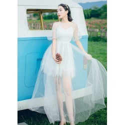 Women's White Short Sleeves Maxi Dresses Formal found on MODAPINS from Zilingo AU for USD $47.28