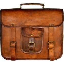 Style Vintage Handcrafted Tan Leather Macbook