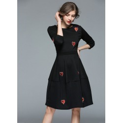 Women's Vintage Heart Embroidered A Line Dress found on MODAPINS from Zilingo AU for USD $44.27