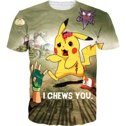 Advertising Shirt Pikachu Men's 3d Digital Printing T-shirt Cartoon