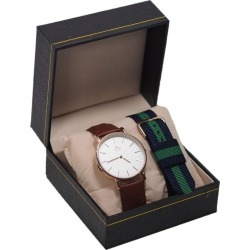 Assembly72 Set Watch Brown Leather With Nato Navy-green found on Bargain Bro India from Zilingo AU for $46.19