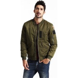 Men's Coat Long Sleeves Top Fashion Catoon Badge Stand Collar Coat found on MODAPINS from Zilingo AU for USD $114.33