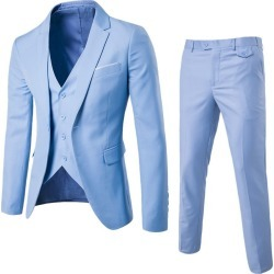 3 Pcs Sets Mens Suit Jacket Formal Business Blazer found on MODAPINS from Zilingo AU for USD $98.68
