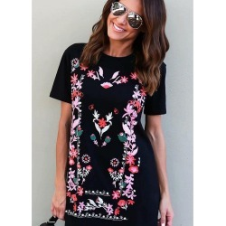 Printed Short-sleeve T-shirt Dress found on MODAPINS from Zilingo AU for USD $26.42