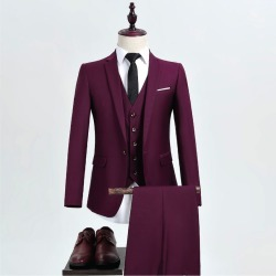 Burgundy Suit Formal Suits For Men found on MODAPINS from Zilingo AU for USD $221.03