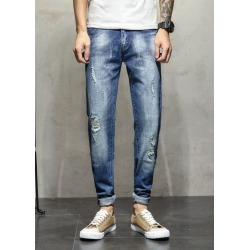 Mens Slim Fit Jeans Casual Pants Crop Jeans found on MODAPINS from Zilingo AU for USD $32.90