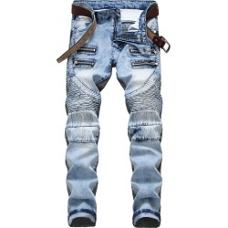 Men's Denim Shorts Casual Wash Print Five Points Pants Jeans found on MODAPINS from Zilingo AU for USD $38.60
