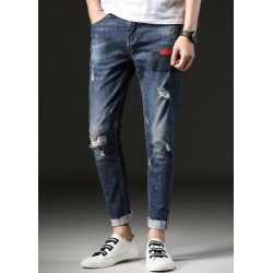 Men's Slim Jeans Distressed Holes Casual Pants found on MODAPINS from Zilingo AU for USD $37.64