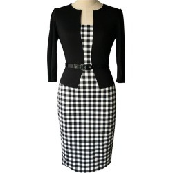Plaid Work Dress With Belt found on MODAPINS from Zilingo AU for USD $27.28
