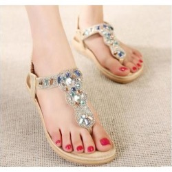 Socto Sandals Rhinestone Flip Flops Shoes Sandals