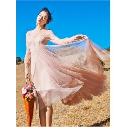 Women's Pink Full Sleeves Maxi Dresses Wedding Formal found on MODAPINS from Zilingo AU for USD $47.28
