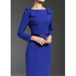 Boat Neck Belted Fitted Work Dress found on MODAPINS from Zilingo AU for USD $83.18