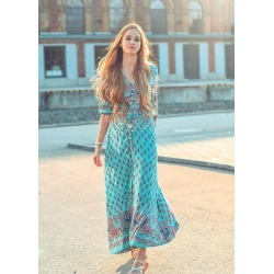 Bohemian Printed Beach Dress found on MODAPINS from Zilingo AU for USD $23.97