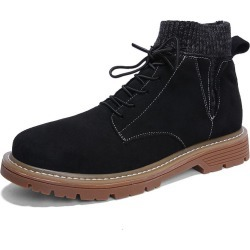 Martin Boots Men's Fashion And High Top Leather British Style Men's Helper Boots Socks Mouth Winter 2018 New found on MODAPINS from Zilingo AU for USD $147.35