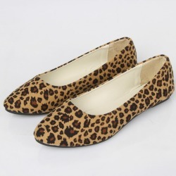 Leopard Print Fake Suede Women Flat Shoes Ballet Hot Sales Casual Shoes 1744 found on Bargain Bro India from Zilingo AU for $38.66