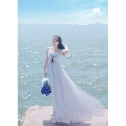 Women's White Short Sleeves Maxi Dresses Formal found on MODAPINS from Zilingo AU for USD $44.12
