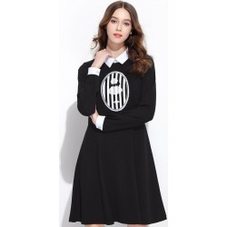 Women Turn Down Collar Long Sleeve Casual Shirt Midi Dress found on MODAPINS from Zilingo AU for USD $36.99