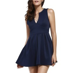 Plunge Neck Sleeveless Semi Formal Dress found on MODAPINS from Zilingo AU for USD $29.95