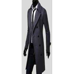Fashion Men's Wear, European And American Version Of Long Coat found on MODAPINS from Zilingo AU for USD $70.59