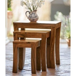 Solid Wood Nest Of Tables Set