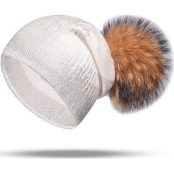 New Hot Silver Knit Hat Fashion Scorpion Hair Ball Cap found on MODAPINS from Zilingo AU for USD $29.21