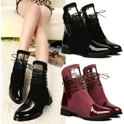 Women Winter Spring Sexy Leather Flat Boots found on MODAPINS from Zilingo AU for USD $44.40