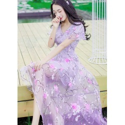 Purple Floral Beach Dresses found on MODAPINS from Zilingo AU for USD $42.78