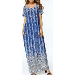 Women's Kaftan Dress Short Sleeve Casual Maxi Long Kaftan Dress found on MODAPINS from Zilingo AU for USD $26.73
