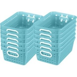 Book Baskets Medium Rectangle Water by Really Good Stuff Inc