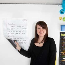 Jumbo Dry Erase Magnetic Notebook Page by Really Good Stuff Inc