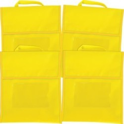 Solid Color Book Pouches Set Of 4 Yellow by Really Good Stuff Inc