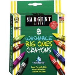Sargent Art 8 ct Washable Big Ones Crayons 6 Boxes by SARGENT ART