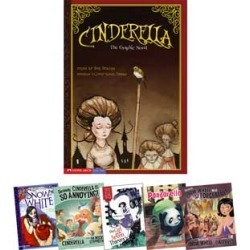 Fairy Tales In Multiple Formats Snow White And Cinderella 6 Book Set by Capstone Press