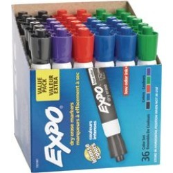 Expo Low Odor Chisel Markers 36 ct Assorted by NEWELL BRANDS