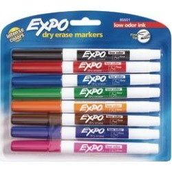 Expo Low Odor Fine Markers 8 ct Assorted by NEWELL BRANDS