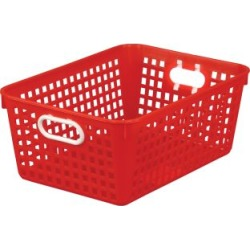 Large Rectangle Book Basket Single Basket Red by Really Good Stuff Inc