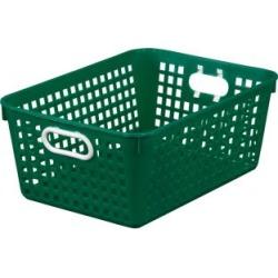 Large Rectangle Book Basket Single Basket Green by Really Good Stuff Inc
