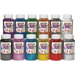 Colorations Extra Safe Plastic Glitter 1 lb   Set of All 12 by Discount School Supply found on Bargain Bro from really good stuff for USD $98.79