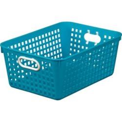 Large Rectangle Book Basket Single Basket Blue Neon by Really Good Stuff Inc